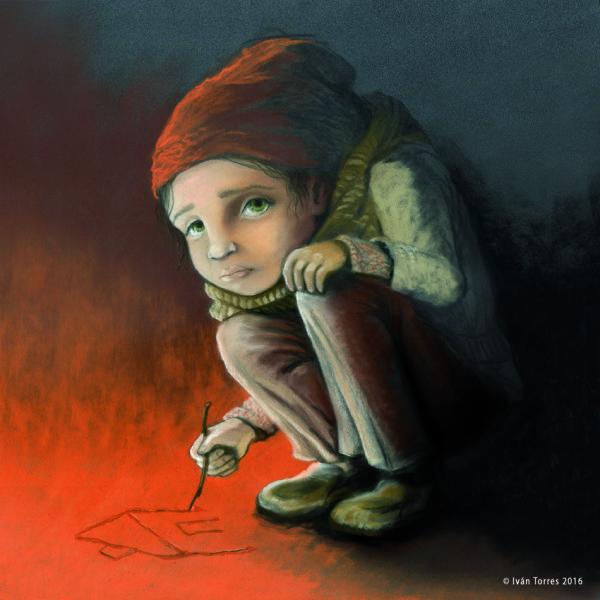 Exposición de ilustraciones  «REFUGIADOS/AS: ENTRE EL ATAÚD Y LA MALETA»