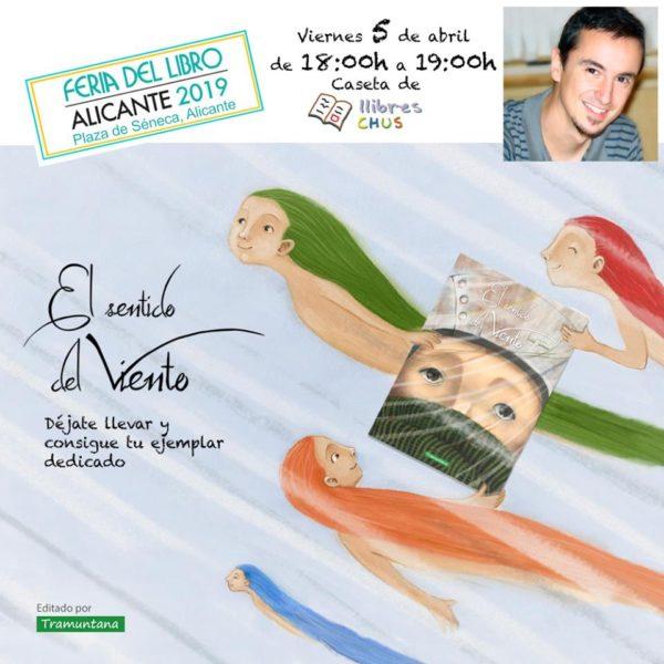 Firma de libros feria del libro de Alicante. 5 de abril de 2019
